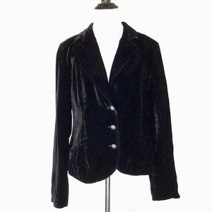Calvin Klein Velvet Blazer Jacket Black Large